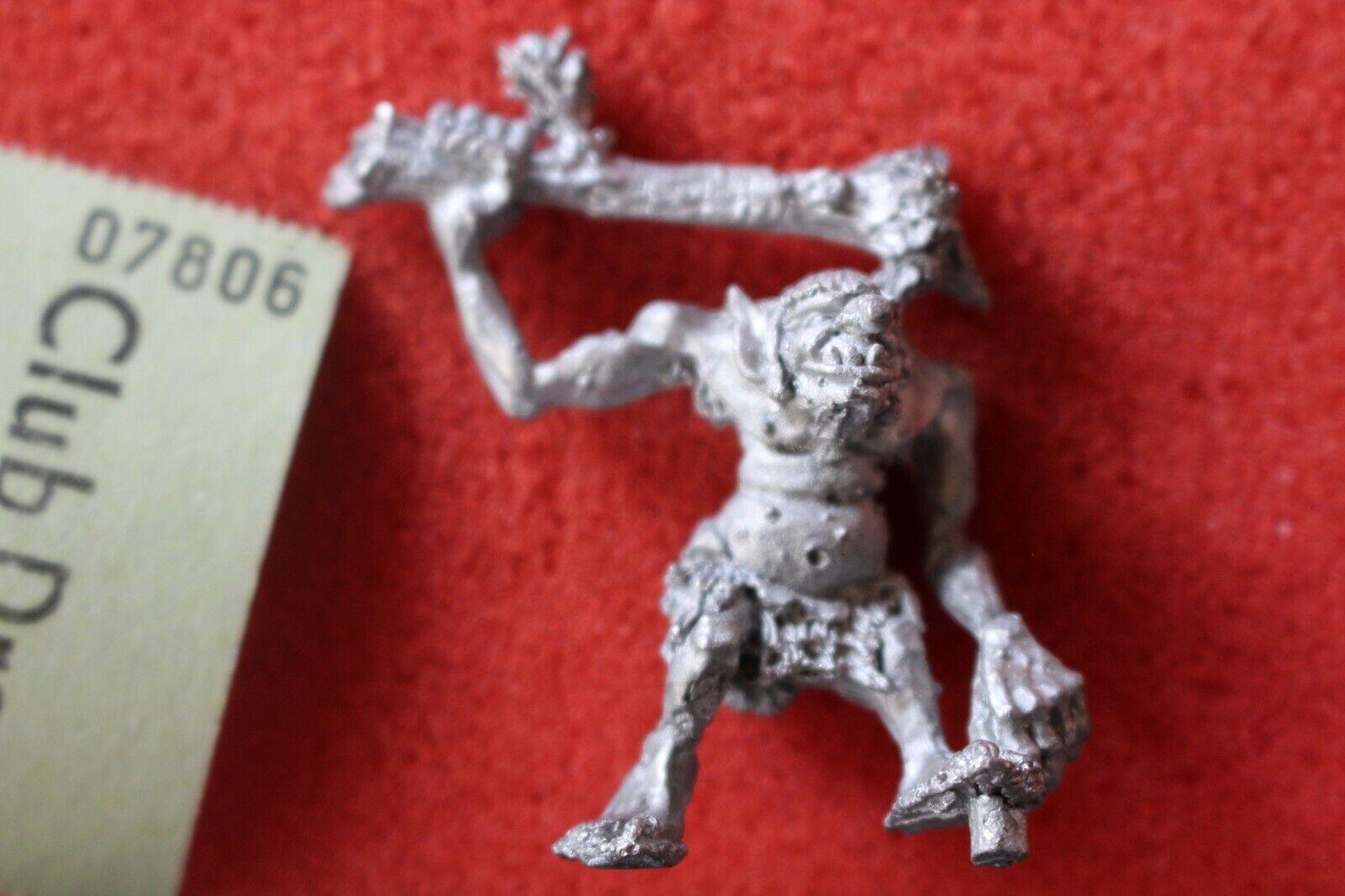 Games Workshop Citadel C20 Hill Troll Metal Figure Mint 1980s Warhammer GW OOP