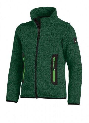 FHB  MATS Strick-Fleece-Jacke Kinder 79598 25-grün