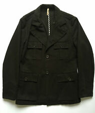 Grifoni giacca primavera denim nero jeans jacket uomo usata tg 50 vintage T275