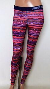 b3bddf0ae0b304 Nike Pro Womens XS Hyperwarm Pants Tights 8 Bit Purple Nordic ...