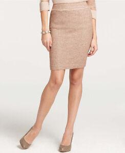 1bbc1fb0b2 Ann Taylor Petite Frayed Waist Tweed Skirt Size 12 Petite NWT Pale ...