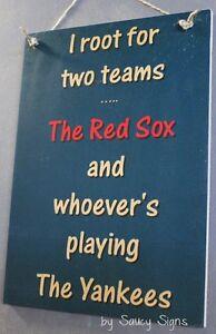 Boston-Red-Sox-versus-New-York-Yankees-Handmade-Shabby-Chic-Baseball-Sign