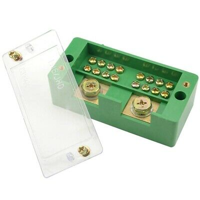 WGCD WMYCONGCONG 660V 30A Single Phase 2 Inlet 12 Outlet Meter Box Junction Power Distribution Terminal Block 2 Inlet 12 Outlet