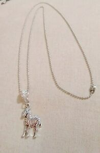 Necklace-with-Zebra-charm-Rare-Disease-Awareness