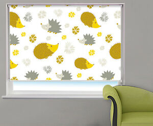 Cartoon-Hedgehogs-Animal-Pattern-Printed-Photo-Picture-Roller-Blind-Blackout