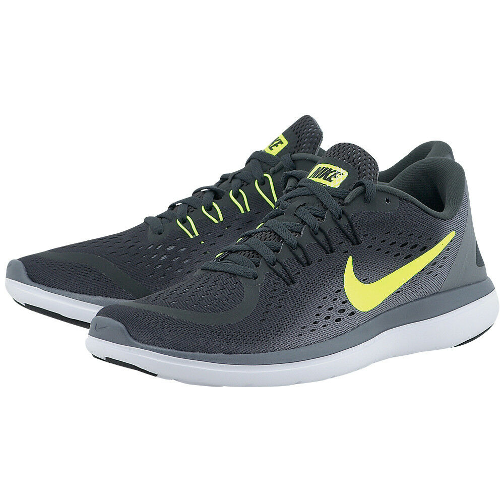 nEW Nike Flex 2017 RN Running Mens Shoes Sizes + Colors Comfort Flywire 898457-002 Wolf Grey,898457-007 Anthracite/Volt