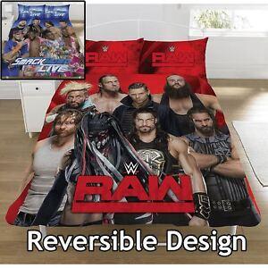 New Wwe Wrestling Smackdown Vs Raw Reversible Ensemble De Literie