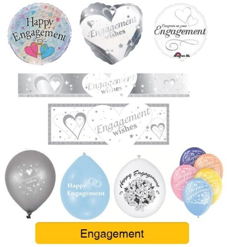Balloons Happy Engagement ENGAGEMENT WISHES Party Banners Decorations EPP