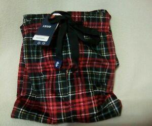 NEW Men/'s IZOD Black Red White Plaid Soft Touch Fleece Lounge Pant Size Medium M