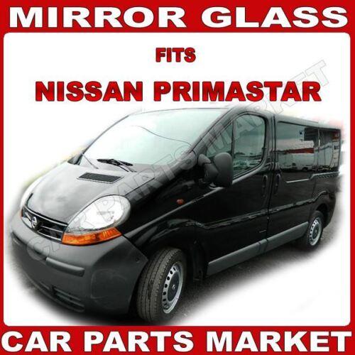 Left side Wing door mirror glass for Nissan Primastar 2001-2014