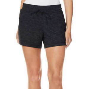 32-Degrees-Cool-Women-039-s-Size-Medium-Fleece-Shorts-Black-Space-Dye