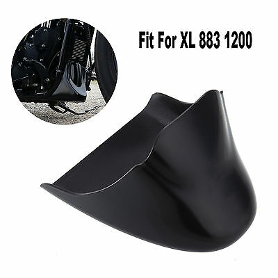 Black Front Spoiler Chin Fairing Cover Mounting Bracket for Harley Sportster 2004-2014 XL883 XL1200