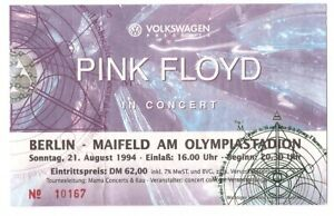 Pink-Floyd-In-Concert-1994-Ticket-Konzertkarte-Eintrittskarte