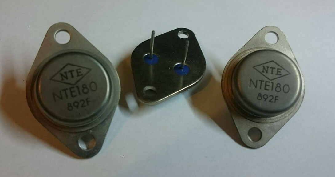 10 Pcs  NTE180 BJT PNP Si (Replaces GE-74, SK3437)  High Power Audio Output