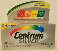 Centrum Silver Multivitamin Adults 50+, 80 Tablets - Exp 12/17 *Free Shipping*