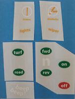Gem Car Part, Dash Sticker Set For 1999-2004 Exact Original Type Replacement