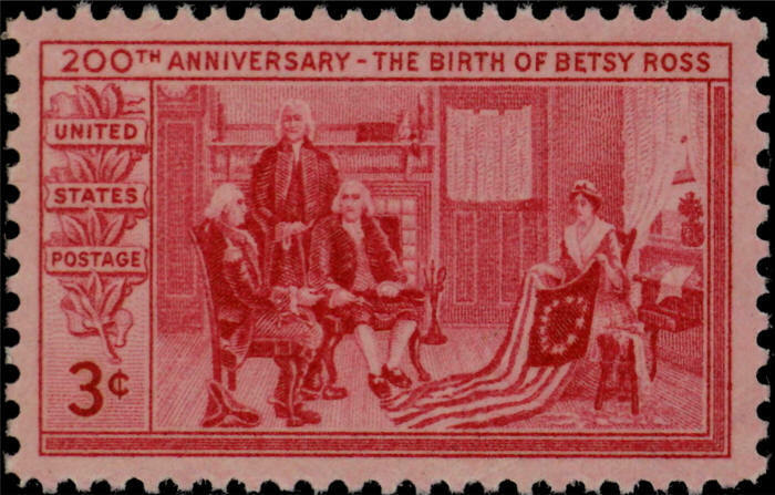 1952 3c The Birth of Betsy Ross, 200th Anniversary Scot