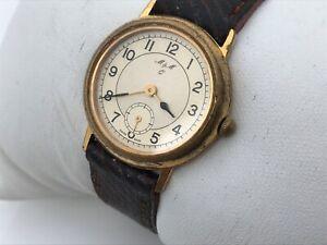 M-amp-M-Watch-Vintage-Swiss-Made-Ladies-Watch-Analog-Wrist-Watch-Brown-Leather-Band