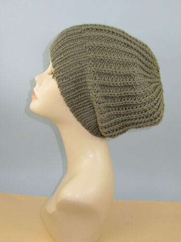 CHUNKY SIMPLE FISHERMANS RIB SLOUCH HAT KNITTING PATTERN PRINTED INSTRUCTIONS