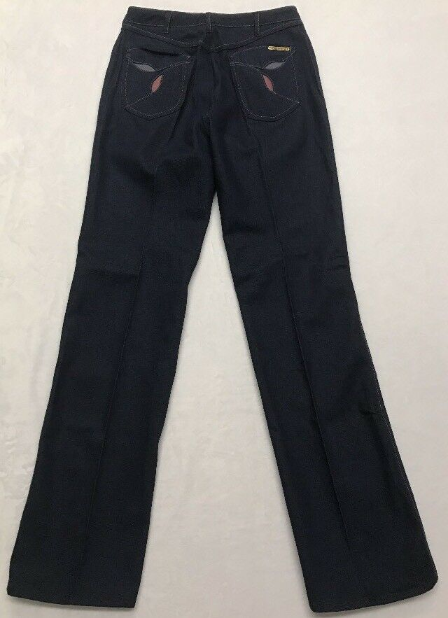 RARE Vintage 70s Jeans Deadstock Wide Leg High Wa… - image 1