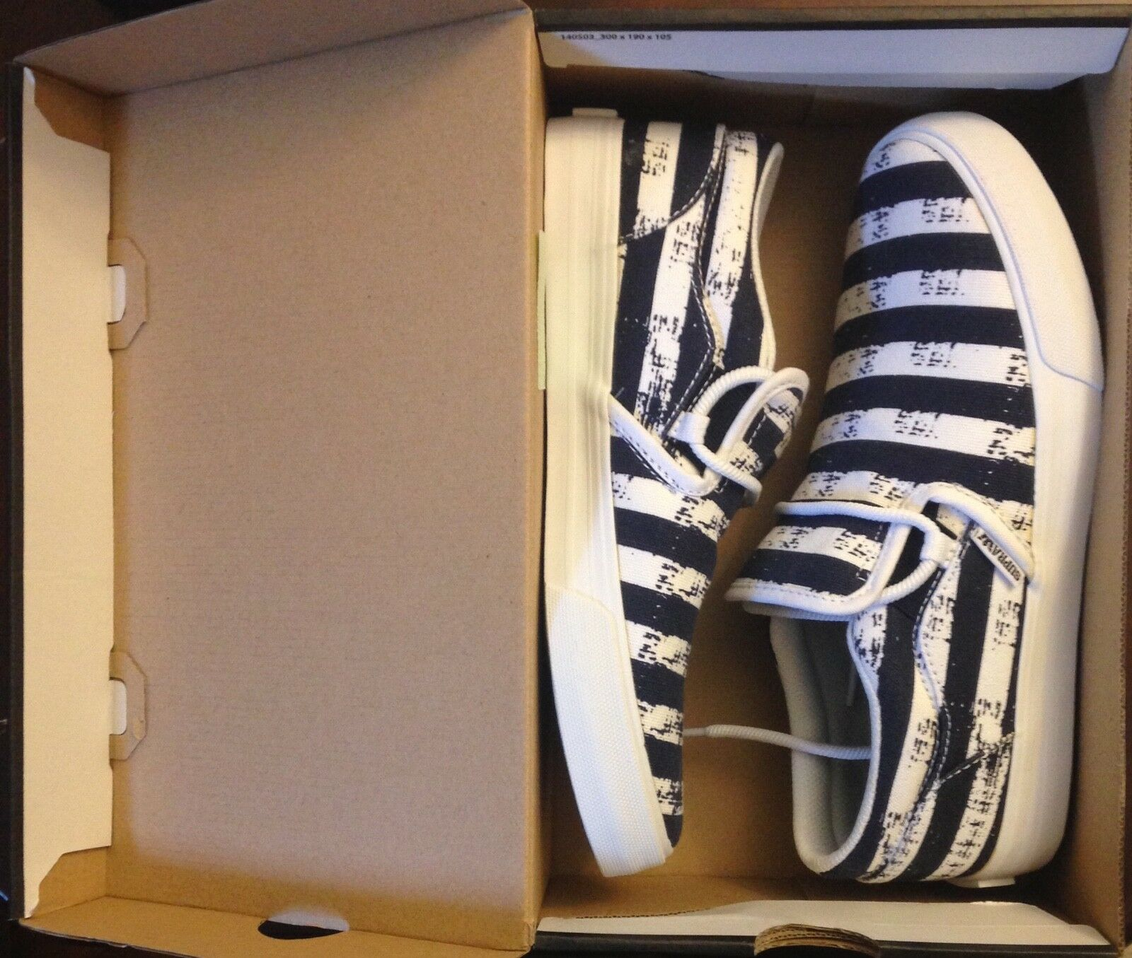 Supra Cuba shoes Navy Stripe Mens 8