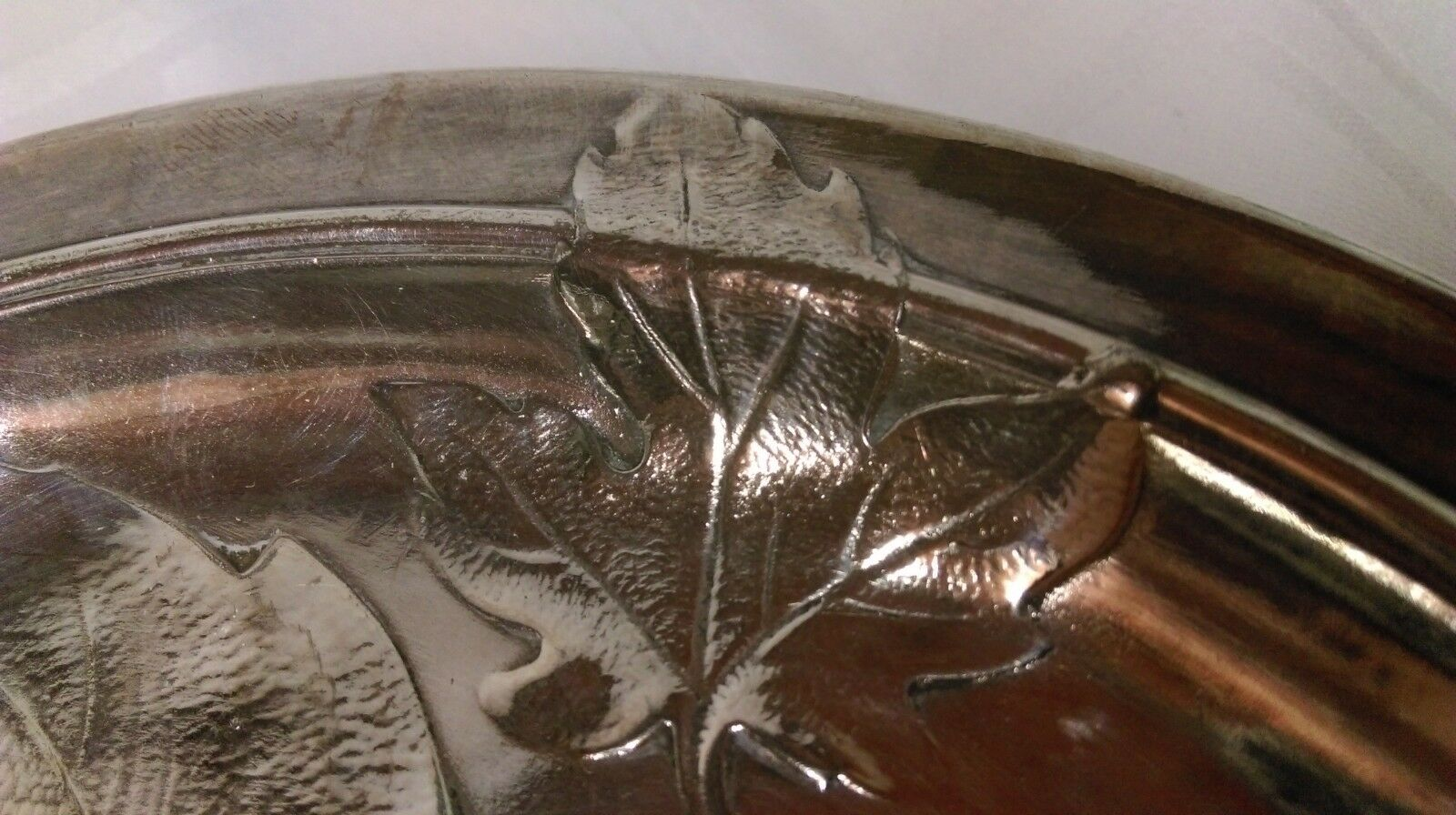 ANCIENNE COUPE COUPE COUPE VIDE POCHE GALLIA époque ART NOUVEAU   FEUILLE DE SilberNE   c4c152