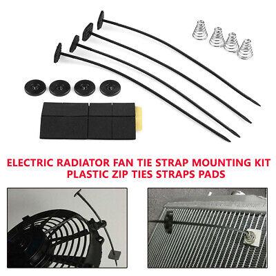 Hehilark Auto Accessory Single Electric Radiator Fan Mounting Kit Tie Strap Pads