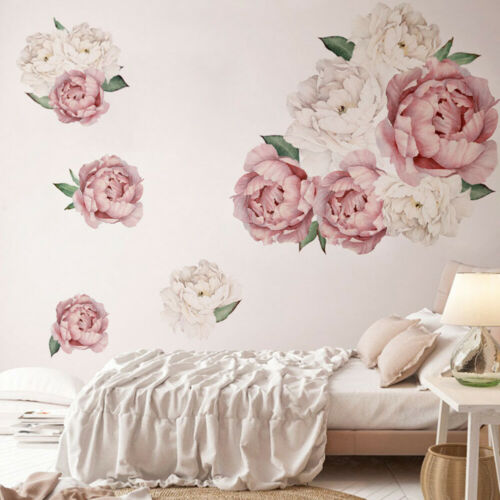 HD/_ Peony Flower Home Wall Sticker Living Room Background Decal Mural DIY Decor