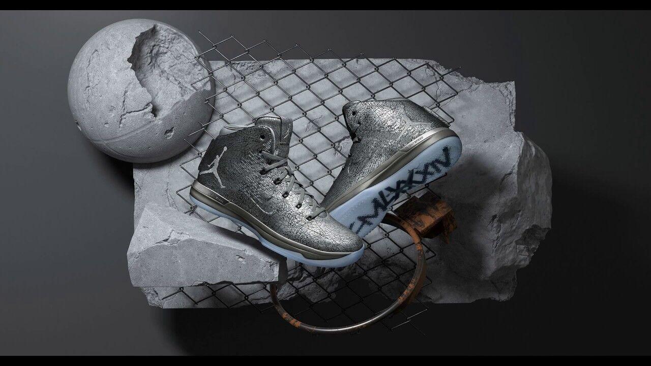 JORDAN XXXI XXXI XXXI PRM scarpe BATTLE grigio RARE, US Dimensione 15. BRAND NEW     2cfa95