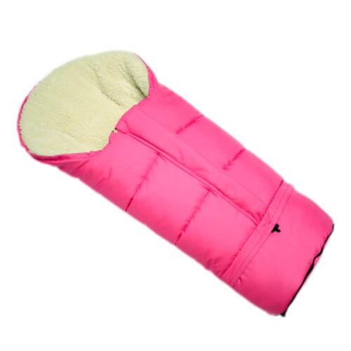 Bambiniwelt Winter Footmuff Mummy for Pram Footmuff Lamb/'s Wool 110cm Uni