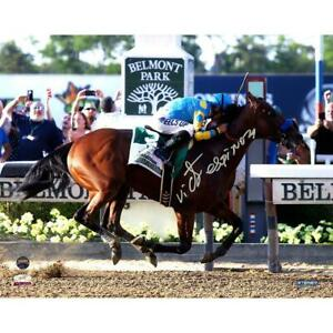 Victor-Espinoza-Signed-American-Pharoah-Celebration-Belmont-Stakes-8x10-Photo
