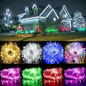 100M LED Lichterkette Schlauch Weihnachtsbaum Deko Strom Innen Außen Kette Kabel