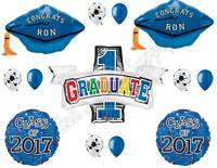 Blue Grad Caps Personalized Class 2017 Graduation Party Balloons Decorations
