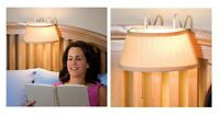 Over The Bed Light With Shade, Retro Style Headboard Lamp For Night Time Reading