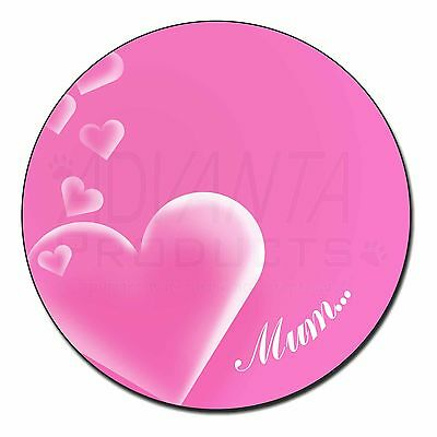 Inteligente Pink Hearts Sentiment For 'mum' Fridge Magnet Stocking Filler Christma, Mum-h3fm