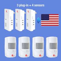 Wireless Alarm Alert System Us Plug Doorbell Motion Sensor Detector Home Safety