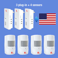 Wireless Alarm Alert System Us Plug Doorbell Motion Sensor Detector Home Safety