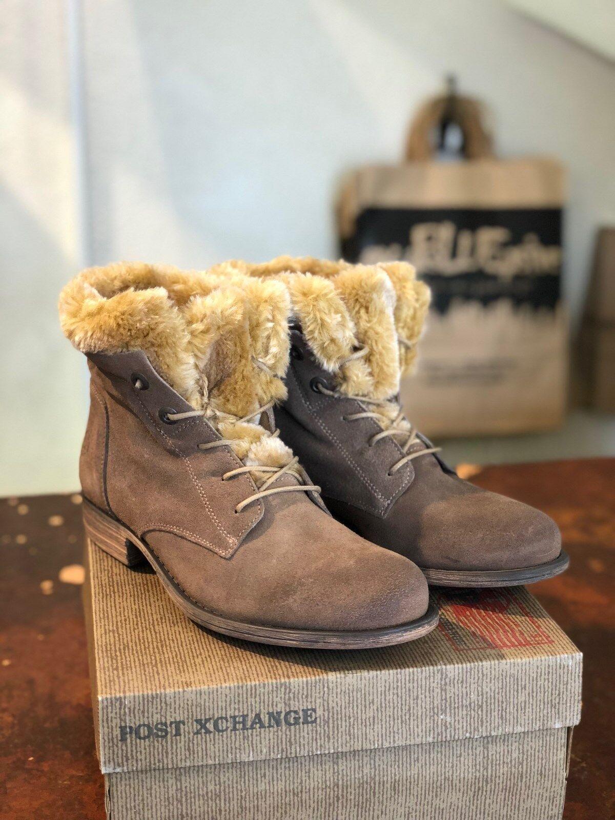 Damen Schuhe Schnürstiefelette Post Xchange Jessy 800 Taupe EU Größe 40 OP 99,90 EU Taupe 25d86c