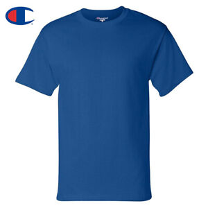 Champion-Men-039-s-T425-Basic-Short-Sleeve-Cotton-Crew-Neck-T-Shirt
