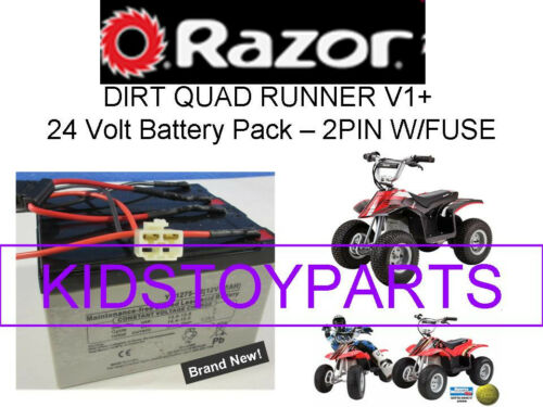 New 24V Battery Pack for Razor Quad Runner 2 pin connector w//fuse