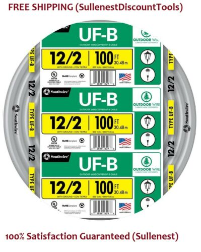 Underground Feeder By-The-Roll Southwire 13055926 100-Ft 12-AWG-2 UF-B Wire