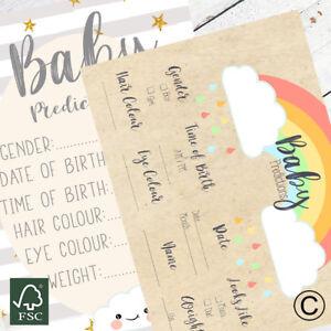 10-Tarjetas-de-prediccion-Baby-Shower-Y-Asesoramiento-2-Disenos-Baby-Shower-Accesorios-Juegos
