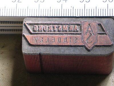 Armstrong Siddeley Logo Schöner Oldtimer Stempel / Siegel Aus Metall Modern Techniques