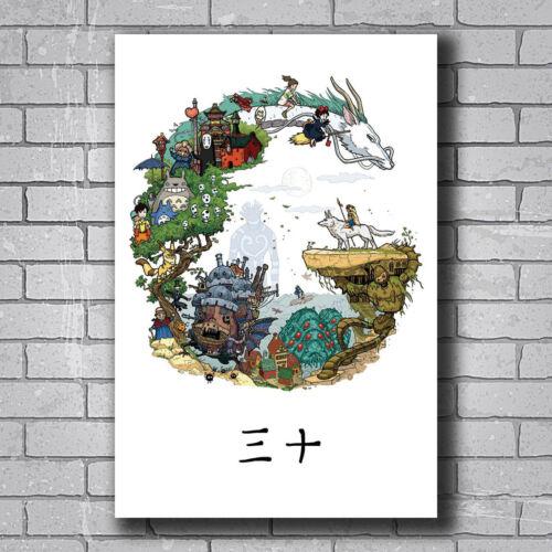 N-566 Classic Japan Anime Studio Ghibli Tribute Hot Wall Poster Art 20x30 24x36