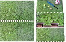 16Sq Ft Eva Interlocking Foam Mat Grass Look Nursery Play Mat Home Flooring Tile