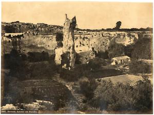 Italie-Syracuse-Siracusa-Sicile-latomie-del-paradiso-Vintage-albumen-print