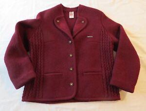 lana 46 ricamato Cardigan femminile Gobi rosso di bordeaux Taglia Maglione L zEw4HqAw