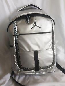 Image is loading NIKE-Air-Jordan-Jumpman-Backpack-School-Bag-Metallic- d7cf60c2dbaec
