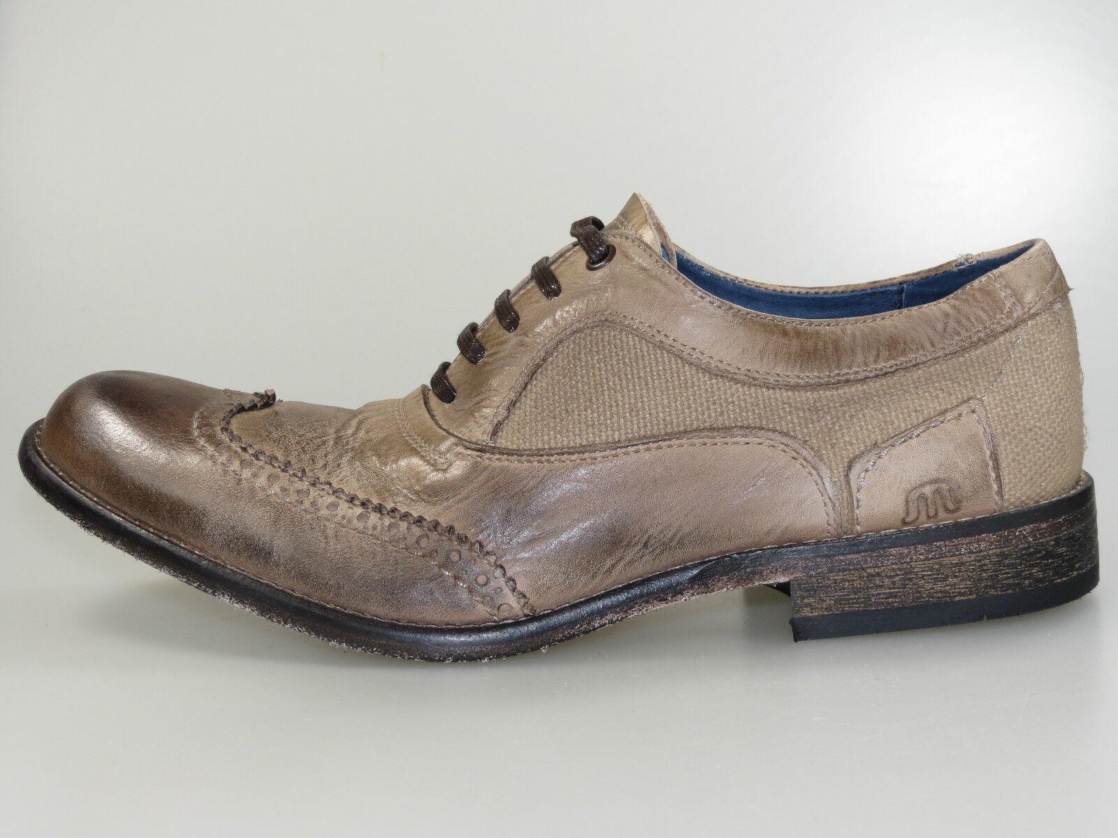 Maruti Schuhe Siena Men 66.20147.2057 brown canvas Leder braun +NEU+