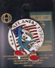 RARE PINS PIN'S .. OLYMPIQUE OLYMPIC ATLANTA 1996 MASCOTTE DRAPEAU USA ~14